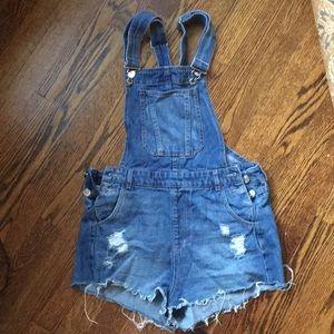 H&M denim shorts overalls